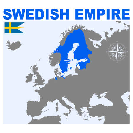 vector map of the Swedish Empire for your project