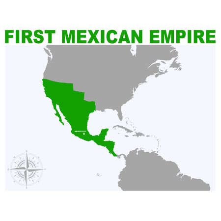 vector map of the First Mexican Empire for your project