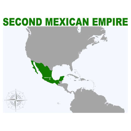 vector map of the Second Mexican Empire for your project