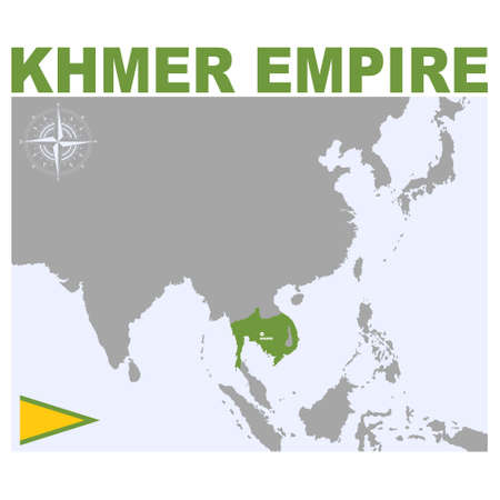 vector map of the Khmer Empire for your project