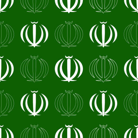 Seamless pattern with Emblem of Iran for your project Illusztráció