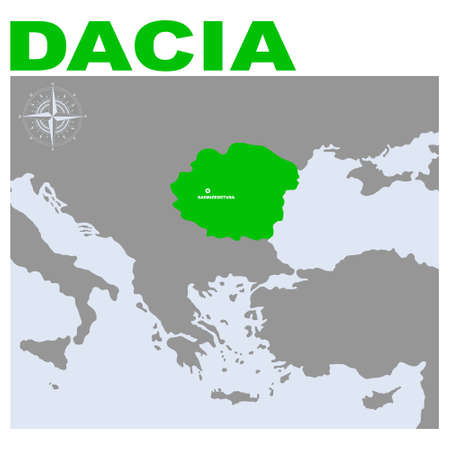 vector map of the geographical and historical region Dacia for your project