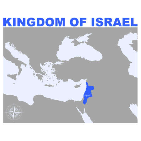 vector map of the Kingdom of Israel for your project