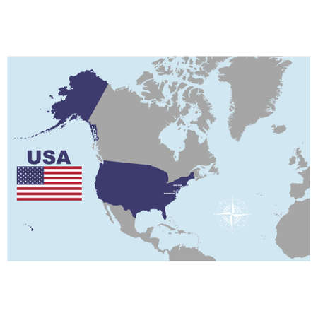 vector map of the United States of America for your project