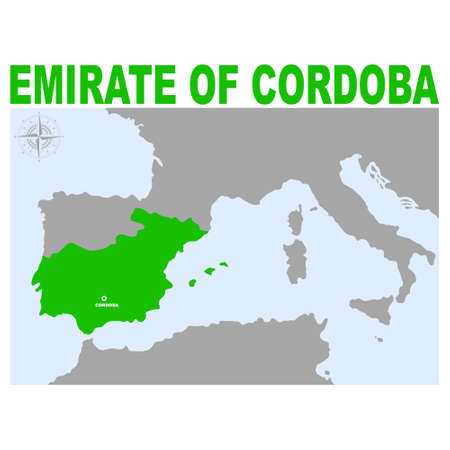 vector map of The Emirate of Cordoba for your project