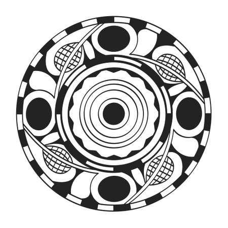 vector icon with symbol of Cucuteni – Trypillia culture ornaments for your project