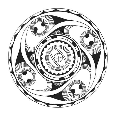 vector icon with symbol ornament of Cucuteni – Trypillia culture for your project Illustration
