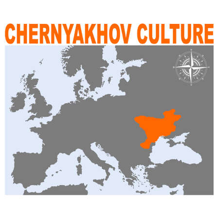 vector map with heartland of Chernyakhov culture for your project Illustration