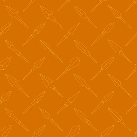 Seamless pattern with ancient Arrowheads for your project