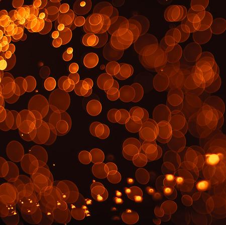 추상 오렌지 그런 지 크리스마스 배경입니다. bokeh 조명 축제 우아한 추상적 인 배경입니다. 스톡 콘텐츠