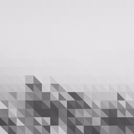 low polygon pixel mosaic white and black color high key gray