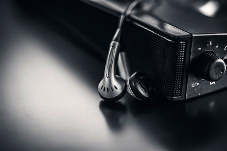earpiece with speaker background