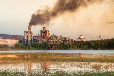 smokestack: Smokestack in factory