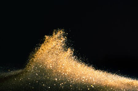 glitter lights grunge background, gold glitter defocused abstract Twinkly gold Lights Background.