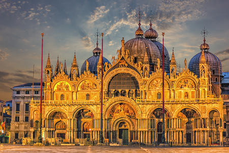 The Patriarchal Cathedral Basilica of Saint Mark in Venice, Italy