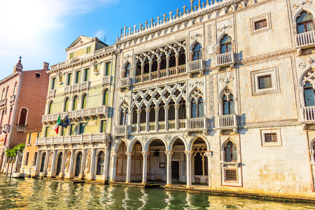 Ca dOro Palace in Grand Canal of Venice, Italy