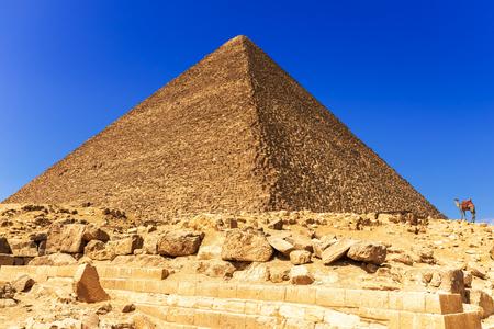 La grande pyramide de Khéops à Gizeh, Egypte