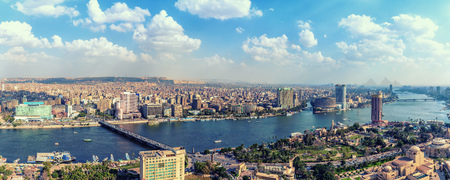 Panorama of Cairo, view of Nile river and downtown, Egypt. Reklamní fotografie