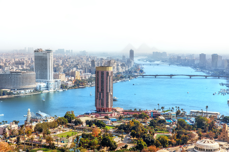 View on Gezira island of Cairo in Egypt