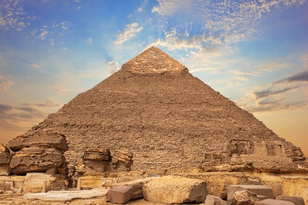 Ruins of the Pyramid of Chephren, Giza, Egypt Banque d'images - 125044497