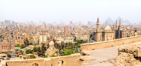 Mosques of Cairo, panoramic view from the Citadel, Egypt