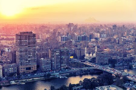 Buildings of Cairo, the capital of Egypt. Stock fotó