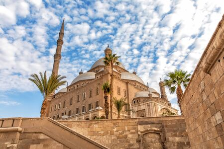 The Great Mosque of Muhammad Ali Pasha, view from the Citadel wall, Cairo, Egypt