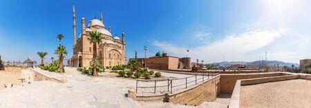 Cairo Citadel panorama, beautiful day view in Egypt. Imagens