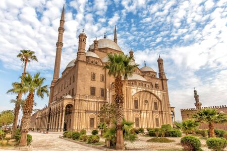View on the Great Mosque of Mohammed Ali Pasha in Cairo Imagens