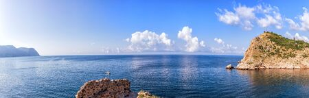 Cape of Balaklava Bay and the sea panorama in Crimea