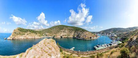 Balaklava Bay, panoramic view from the rock, Crimea, Ukraine