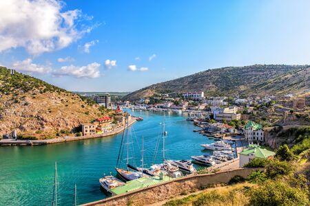 Balaklava Bay, beautiful part of Sevastopol, Crimea