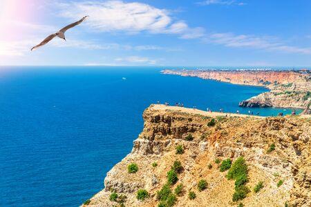 Cape Fiolent beautiful view in Crimean Peninsula, Ukraine.