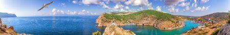 Full view Balaklava Bay panorama, Sevastopol in Crimea.
