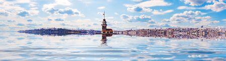 Maiden Tower of Istanbul, beautiful sea panorama.