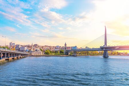 Bridges of Istanbul in Golden Horn, Turkey