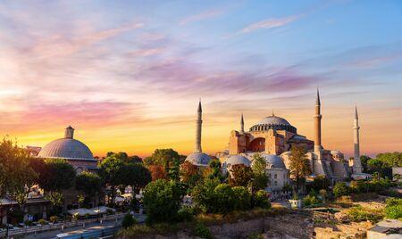 Sainte-Sophie et les bains de Haseki Hurrem Sultan à Istanbul, Turquie