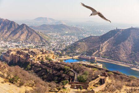 Famous places of Jaipur area, India, Rajasthan. Standard-Bild