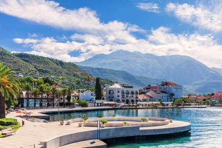 Porto Montenegro marina in Tivat, summer view