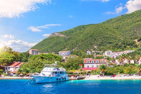 Beautiful Adriatic coast scenery, Bay of Kotor, Montenegro