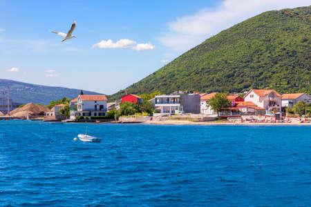 The Bay of Kotor coastline, the Adriactic sea, Montenegro