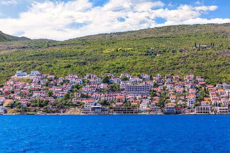 Village in the Kotor bay on the shore of the Adriatiac sea, Montenegro