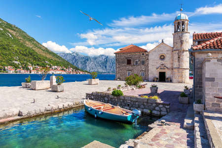 Church of Our Lady of the Rocks in the Bay of Kotor near Perast, Montenegro