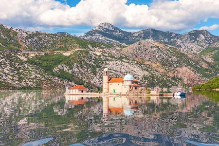 Pier of Kotor, wonderful summer panorama of Montenegro.