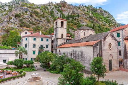 Beautiful Church of St. Mary Collegiate in Kotor, Montenegro.