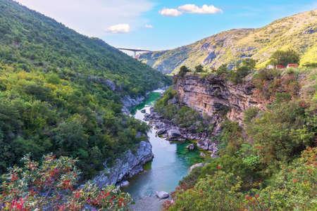 Beautiful Canyon of the Moracha river in Montenegro.