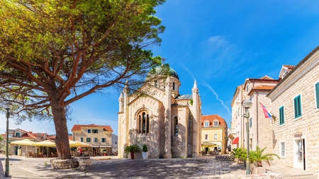 Church of St. Jerome in the old town of Herceg Novi, Montenegro.