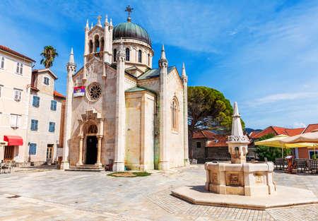 Church of St. Jerome, famous catholic Cathedral of Herceg Novi, Montenegro.
