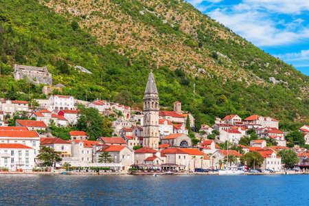 Famous old town Perast near Kotor, Montenegro.