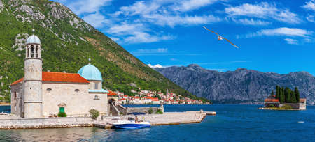 Our Lady of the Rocks and island of Saint George, Perast, Bay of Kotor, Montenegro.